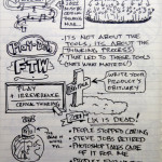 #uxweek Day 3 Sketchnotes: Critical Thinking and Meeting Design. That's the Stuff.